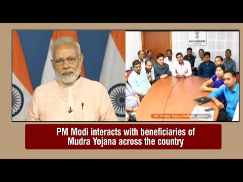 PM interacts with MudraYojana beneficiaries across the country through video bridge