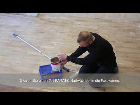 Parkettboden streichen mit PARAT® Hartwachsöl
