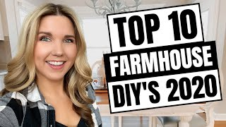 Top 10 Farmhouse DIY's 2020 - Home Decor On A Budget