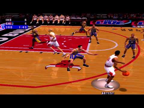 NBA Live 2001 Gameplay Chicago Bulls vs Indiana Pacers
