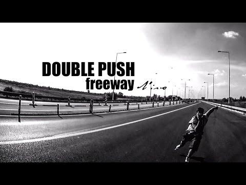 Double push Freeway Video  60km/h flat Bigwheels inline skating ŠKOLA ROLERA VIDEO NINO