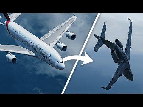 Airbus A380 Causes this Jet to Almost Crash Into the Ocean | Emirates Flight 412 & D-AMSC