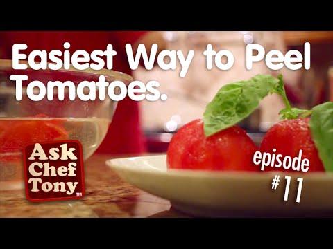 Ένας γρήγορας τρόπος για να ξεφλουδίσετε τις ντομάτες