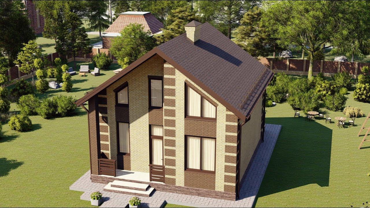 Проект дома с мансардой из газобетона, площадью 116 м2