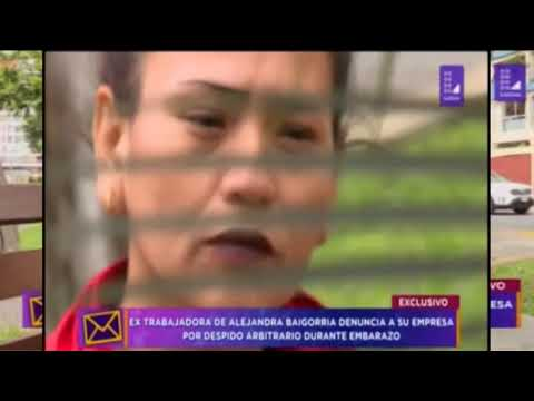 Extrabajadora la denuncia a Alejandra Baigorria por despedirla durante su embarazo