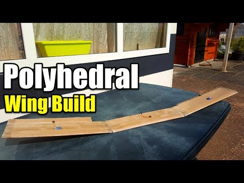 POLYHEDRAL WING BUILD WITH CARDBOARD (How To Make a Trainer Rc Plane For $5 Airplane)