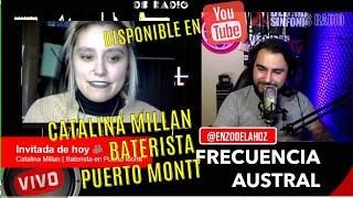 #FrecuenciaAustral a través de ❌ #RDS entrevistando esta vez a Catalina Millan Baterista