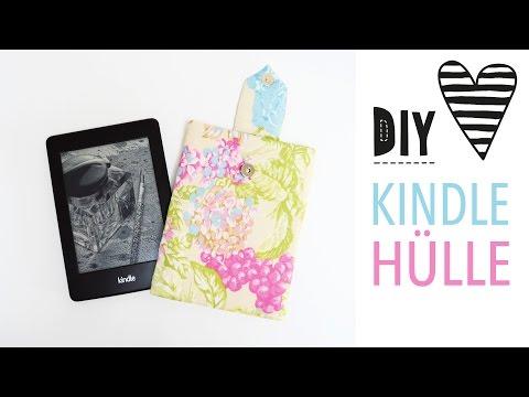Hülle für Kindle oder Tablet nähen mit Schnittmuster / DIY MODE Nähanleitung