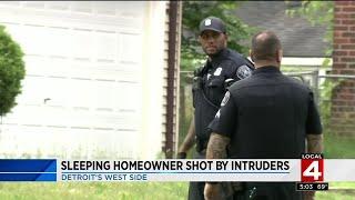 Sleeping homeowner shot by intruders on Detroit's west side
