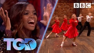 Oti so excited by incredible child dancers KLA! - The Greatest Dancer   Auditions