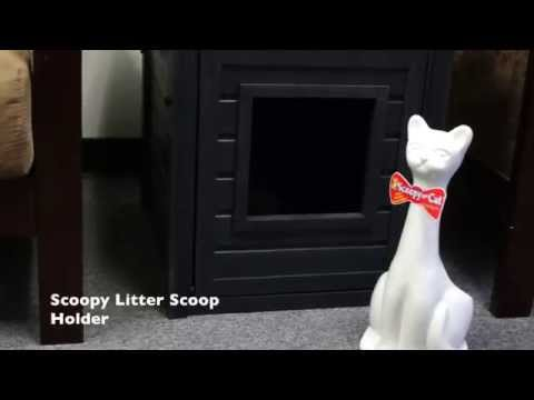 New Age Scoopy Cat Litter Scoop & Holder - Black Video
