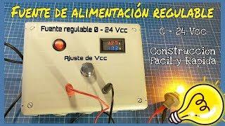 Gambar cover CÓMO HACER UNA FUENTE DE ALIMENTACIÓN REGULABLE 0-24 Vcc 4.5 A