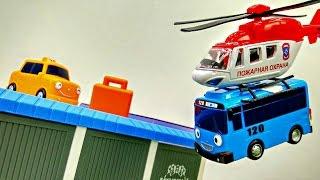 #Развивающеевидео с игрушками. #АвтобусТайо 🚌 помогает доставить посылку 📧