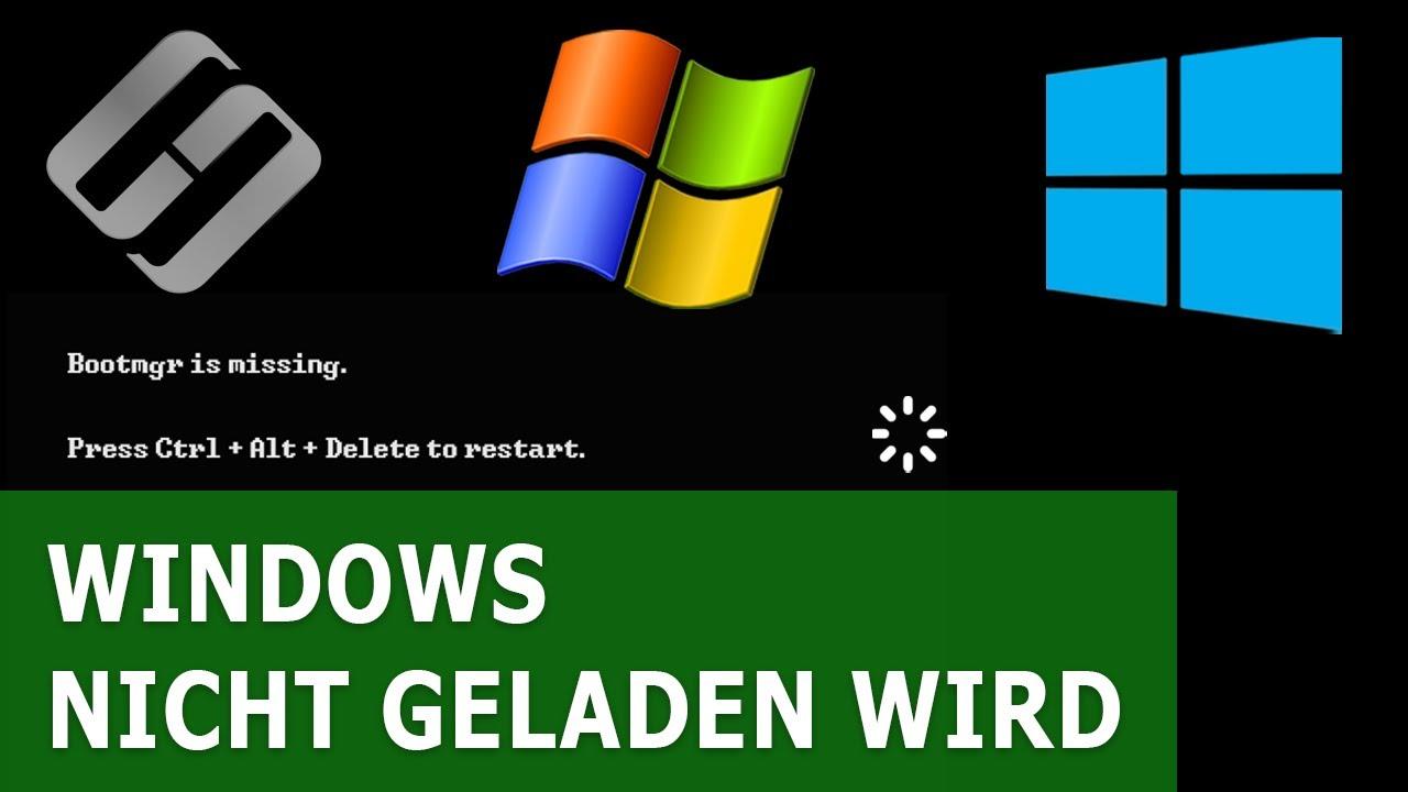 Wird Windows nicht geladen? Reparieren Sie Windows 10, 8 oder 7 (bootrec, fixmbr, fixboot)