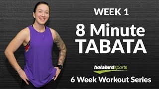 8 Minute AT HOME Tabata Workout: Burn Calories!! No Equipment Needed!! by HolabirdSports