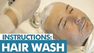 Instruction: Hair wash after the hair transplant ◄ Elithairtransplant Dr. Balwi