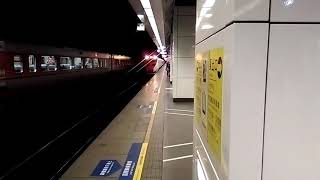 松山站110B、123次拉電門,624次暴走出站