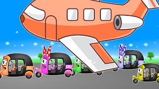 Mega Autos Family VS AIRPLANES | Finger Family Song and More Adventures of Rickshaws