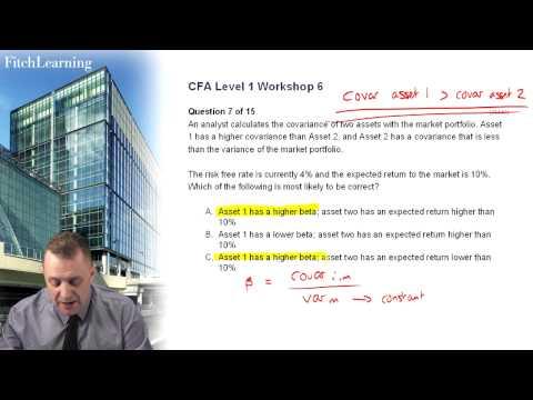 CFA Level 1 exam practice - Question 2 - Alternatives, Portfolio ...
