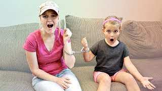 HANDCUFFED To Mom for 24 HOURS!