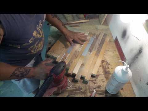 Orologio da parete in legno e alluminio riciclato fai da te Homemade