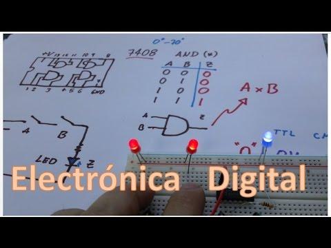 ✅ Curso Electrónica Digital Básica - Compuertas lógicas (AND)