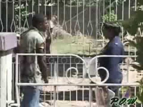Jamaican Soldier Slaps rude Jamaican Thug