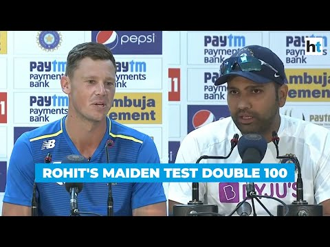 India vs SA: Watch Rohit Sharma's reaction after his maiden Test double ton