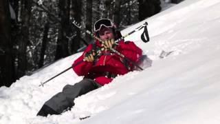 Смотреть онлайн Способ встать на лыжах после падения в глубокий снег