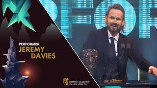 Jeremy Davies wins Performer for The Stranger in God of War | BAFTA Games Awards 2019