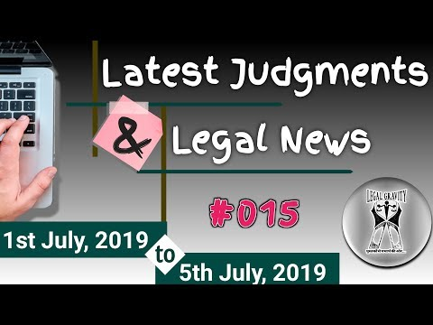 Latest JUDGMENTS | Legal NEWS | #015 | Supreme Court | High Court | Recent Case Law