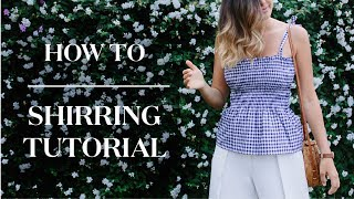 DIY Shirring With Elastic Thread Tutorial (and Easy Gingham Top!)