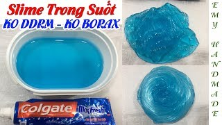 How To Make Slime From A Toothpaste (No Borax, No Activator) | Emy Handmade