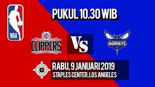 Link Live Streaming NBA LA Clippers Vs Charlotte Hornets, Rabu pukul 10.30 WIB
