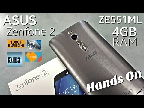 "Asus Zenfone 2 - [Hands On] - ZE551ML - 4GB/32GB - 5.5"" 1080P - 4G LTE - 5MP/13MP - Intel Z3560"