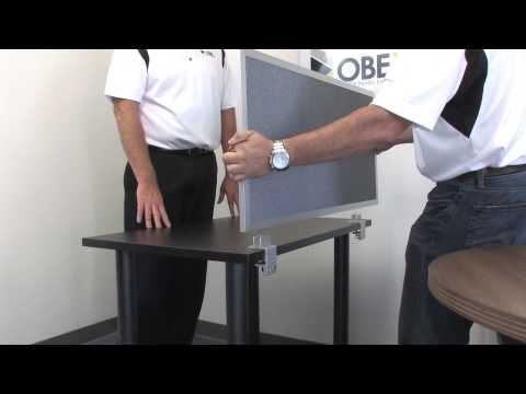 OBEX Desk Mounted Privacy Panels - How to Install to Standard Desk with Edge