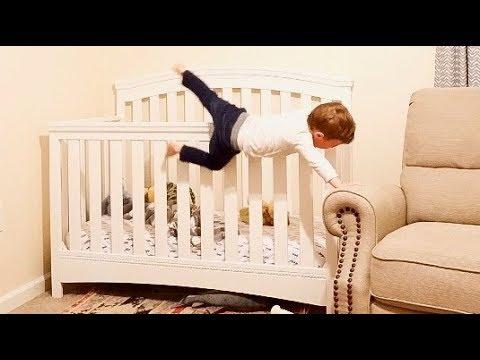 Crib Escape! Toddler Climbs Out Of HIS CRIB!
