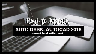 VLOG # 1: How to Install AutoCAD for MAC 2018 - Student Version (For Free)