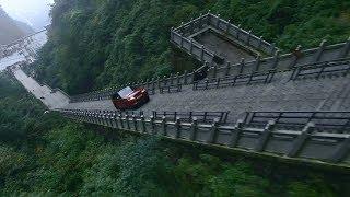 레인지로버 스포츠, 중국 천문산 999계단 도전 (초월번역 주의)