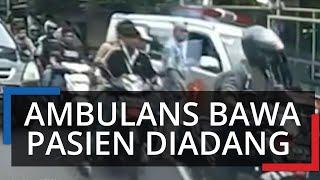 Ambulans Pembawa Pasien Diadang Pria lalu Diancam, Begini Penjelasan Saksi Mata