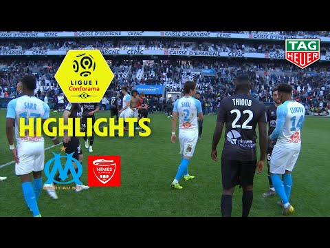 Olympique de Marseille - Nîmes Olympique ( 2-1 ) - Highlights - (OM - NIMES) / 2018-19