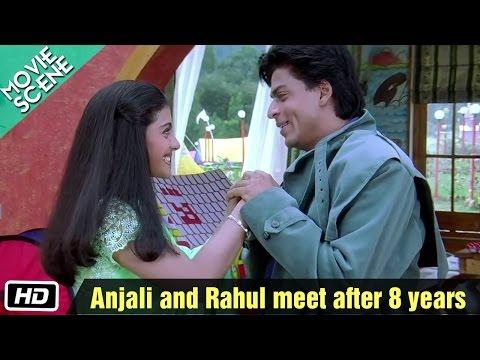 Download Anjali And Rahul Meet After 8 Years - Movie Scene - Kuch Kuch Hota Hai - Shahrukh Khan, Kajol HD Mp4 3GP Video and MP3