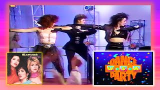 """Dance Party USA 1987 - Dancin' on Air -  Expose' """"Come Go With Me"""" Performance"""