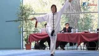 Championnat de France 2012 de Wushu Taolu / Taiji Jian Seniors - Delphine Tran