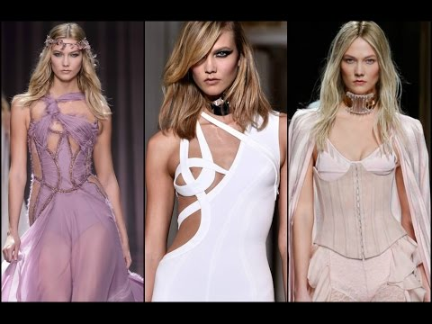Karlie Kloss earlier and newest runways compilation