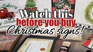 DIY Christmas Signs | CHEAP & EASY !