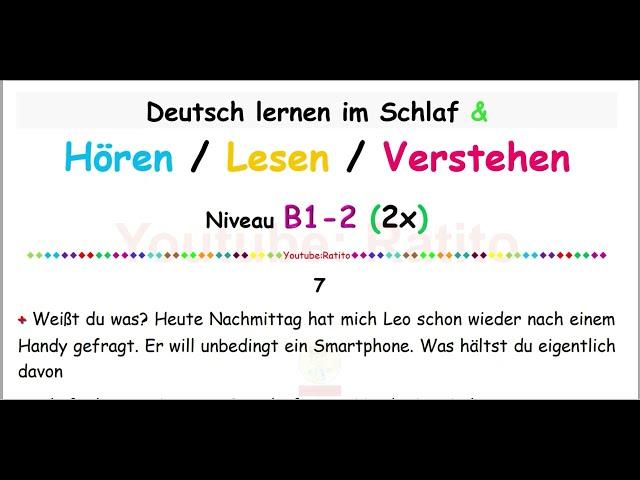 Deutsch lernen im Schlaf & Hören, Lesen und Verstehen-B1-71 - 🇸🇾🇹🇷🇨🇳🇺🇸🇫🇷🇯🇵🇪🇸🇮🇹🇺🇦🇵🇹🇷🇺🇬🇧🇵🇱🇮🇶🇮🇷🇹🇭🇷🇸