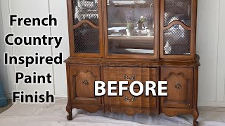 French Country Inspired Paint Finish | Painting Furniture In Our Family Room For A Living