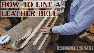 How To Line A Leather Belt