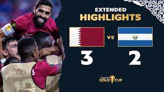 Extended Highlights: Qatar 3-2 El Salvador - Gold Cup 2021